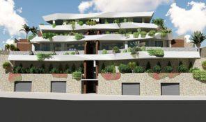 Новая квартира с видами на море от застройщика в Бенидорме